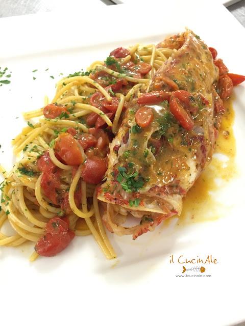 scorfano, pasta, primi, pesce