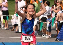 New England Kids Triathlon Finish Line