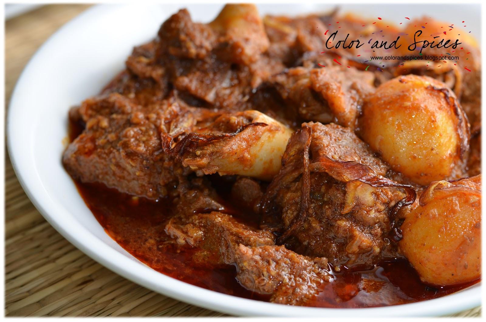 color and spices mutton nihari