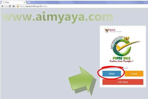 Gambar: Memulai Daftar/Registrasi  e-PUPNS