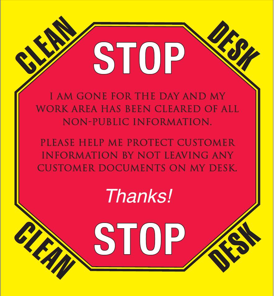 Clean Desk Policy Poster Hostgarcia