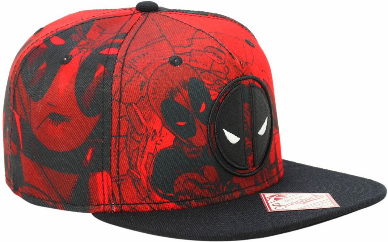 Deadpool Red Tonal Snapback Hat  694742d9fef