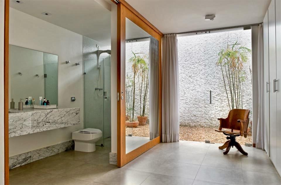 Tendencias diferentes para o quarto -> Armario Banheiro Aberto