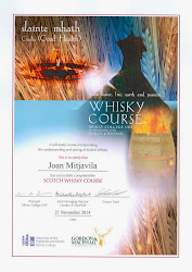 Whisky Course Certificate