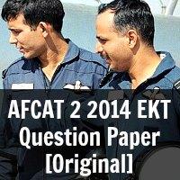 AFCAT 2 2014 EKT Question Paper [Original]