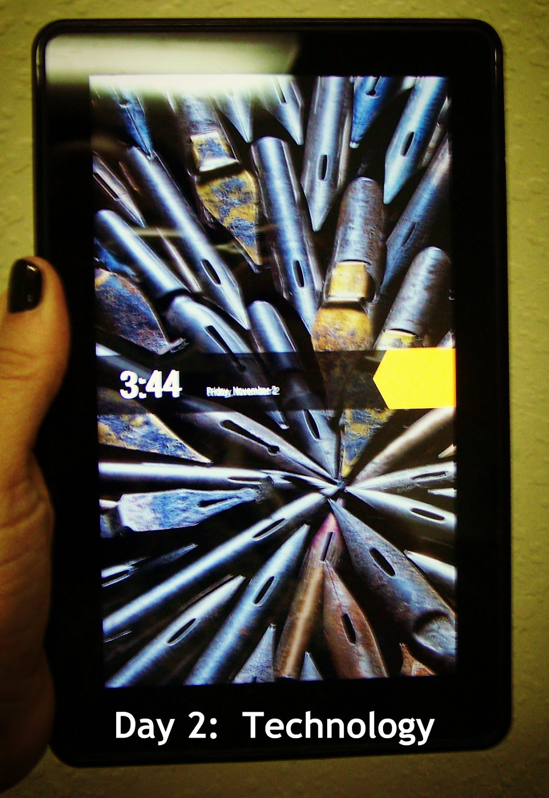 My Kindle Fire. I LOVE it and so does my son. It gives me moments of ...