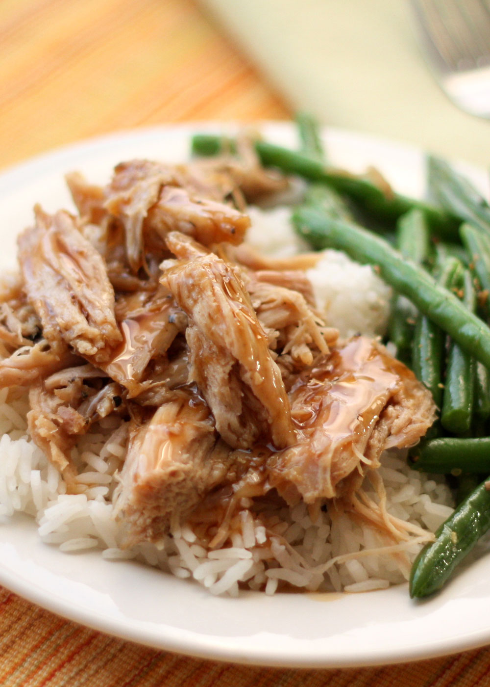 Slow Cooked Pork Roast with a Sweet Tangy Glaze ~ perfect for company or a lazy weeknight dinner!