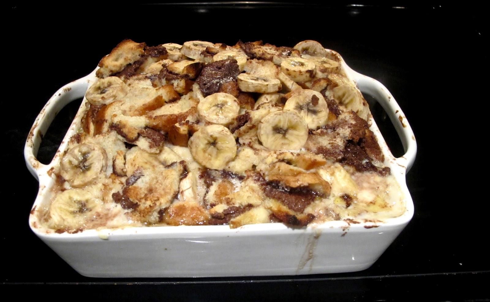 Hungree Girl: Banana Nutella Bread Pudding