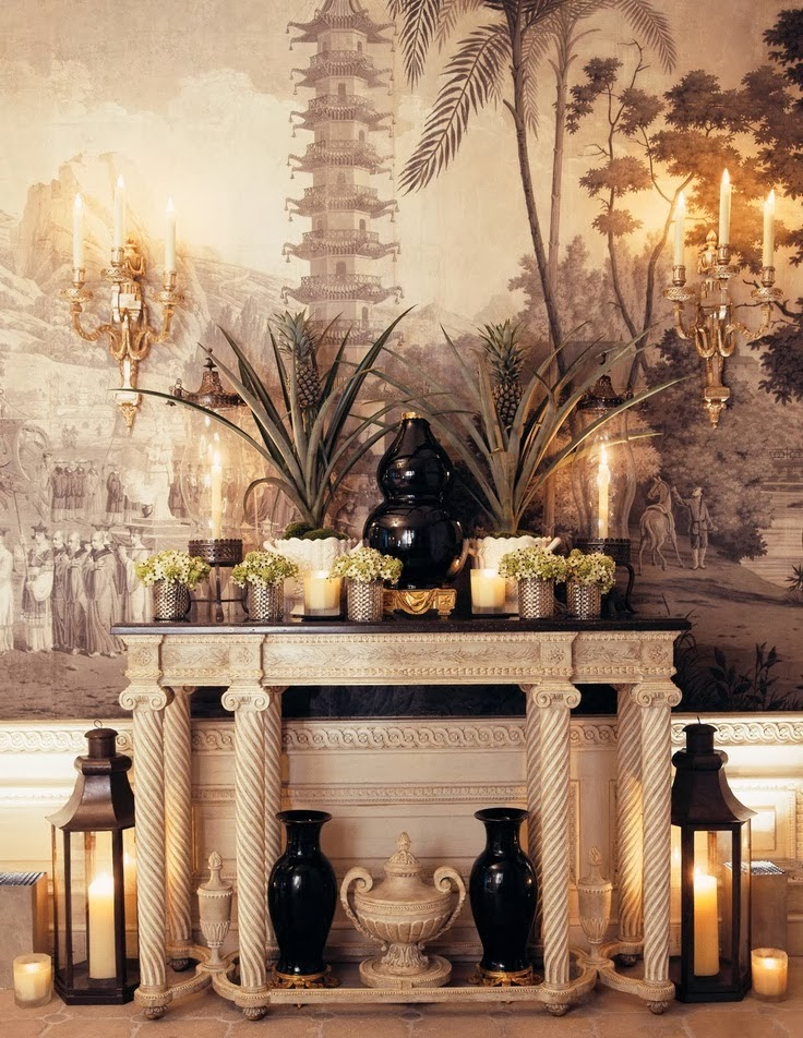Eye for design decorating with zuber scenic wallpaper for Chinoiserie wallpaper mural