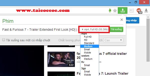 Hướng dẫn cách tải video với trình duyệt Cốc Cốc