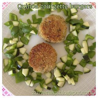 Quinoa courgette burgers