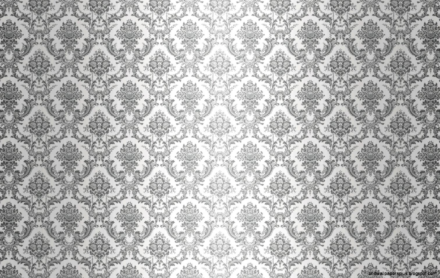 Grey and White Damask