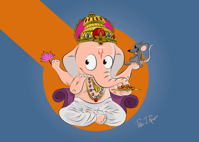 ganesh in cartoon