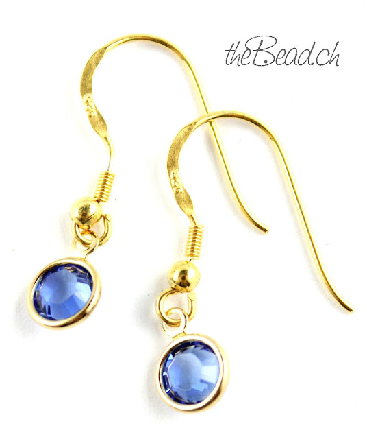 Swarovski Kristall goldene Ohrringe Ohrhaken