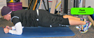 plank on forearms