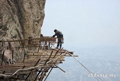 Pekerjaan Paling Berisiko Dan Merbahaya Di Dunia Terdapat Di China - Foto Dan Video