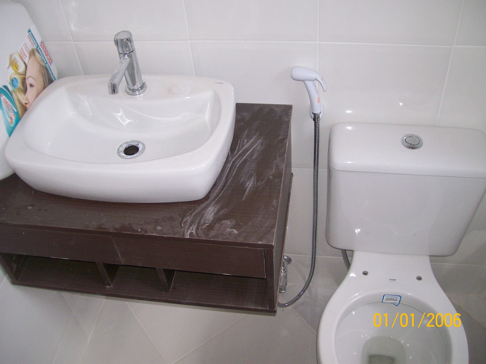 Aventuras da Reforma  Apê de Cris & Paulo Notícias da Obra! Banheiro -> Cuba Para Banheiro De Apoio Incepa Thema