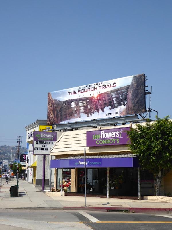 Maze Runner Scorch Trials film billboard