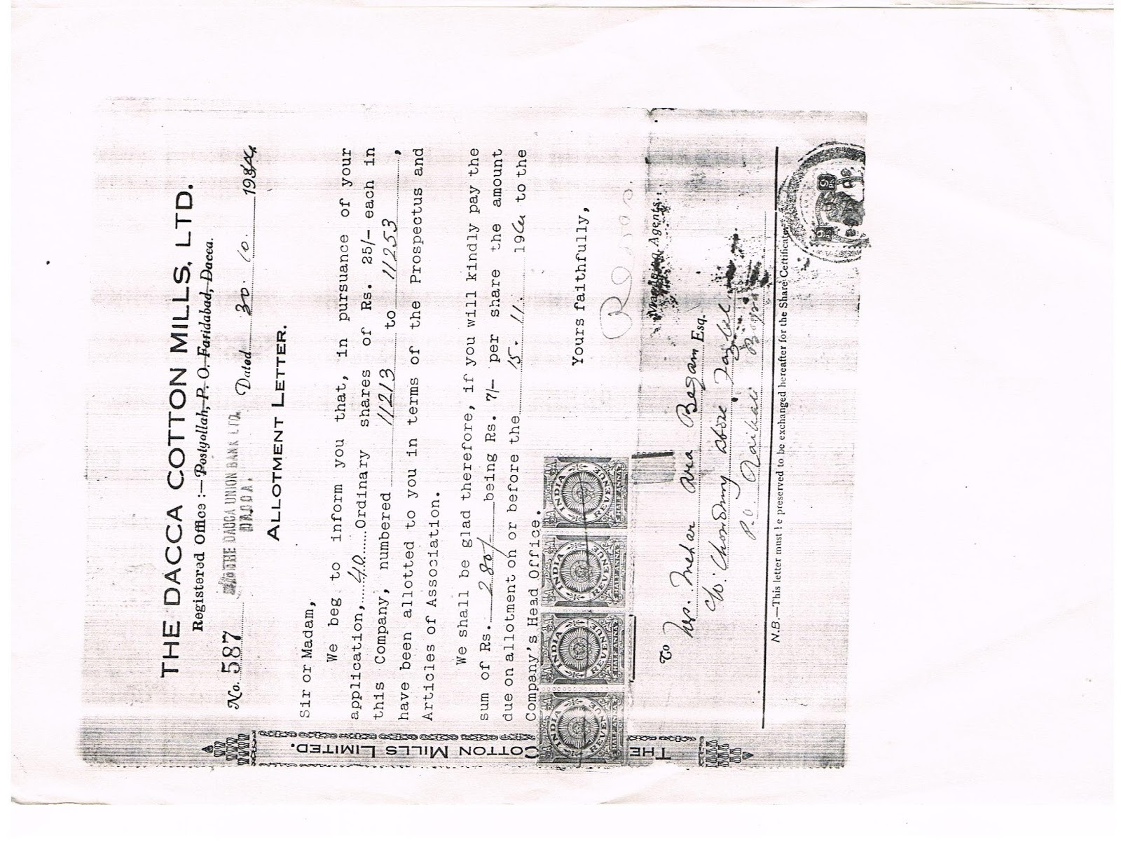 these shares belong to my ancestors some belong to my maternal grandmotheralive citizen india and the rest her relativesancestors i would like to get