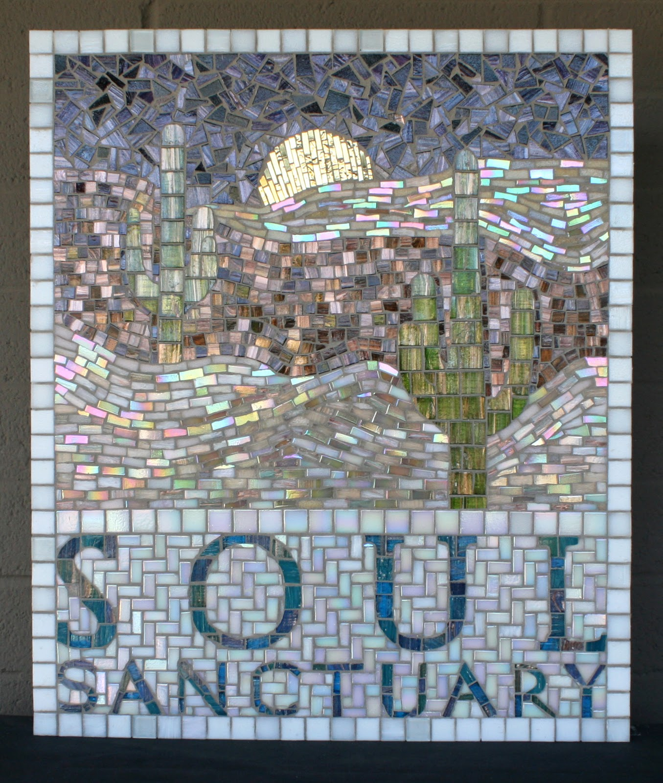 Handcrafted mosaic murals alpentile glass tile pools and for Custom mosaic tile mural