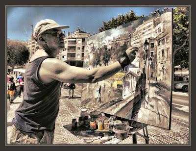 SANT FELIU DE GUIXOLS-PAISAJES-PINTORES-PINTANDO-FOTOS-PINTOR-ERNEST DESCALS-