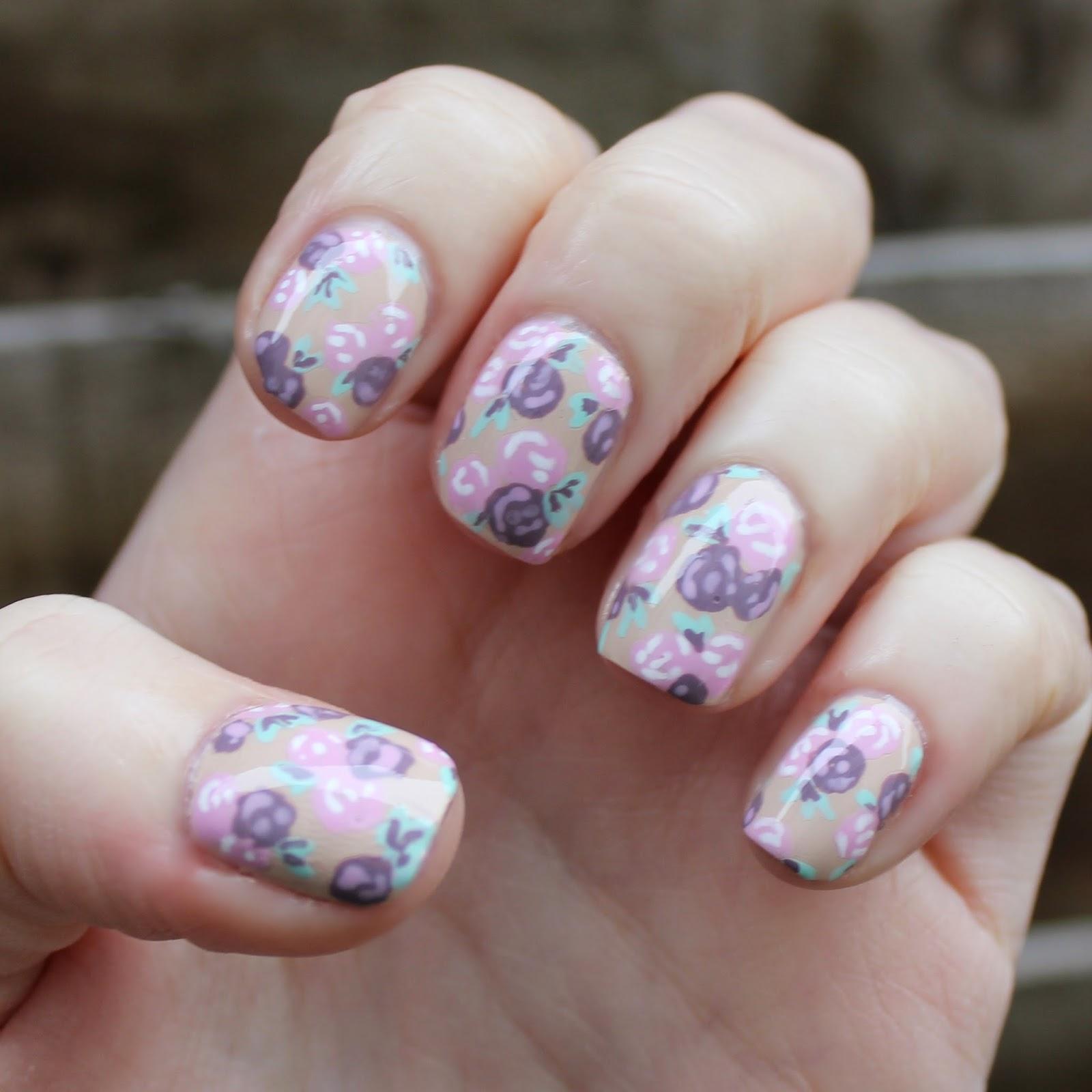 Cute Floral Nail Art