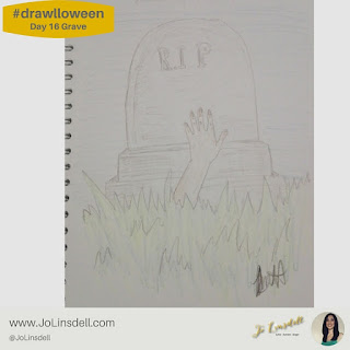 #Drawlloween Day 16 Grave #Drawing #challenge