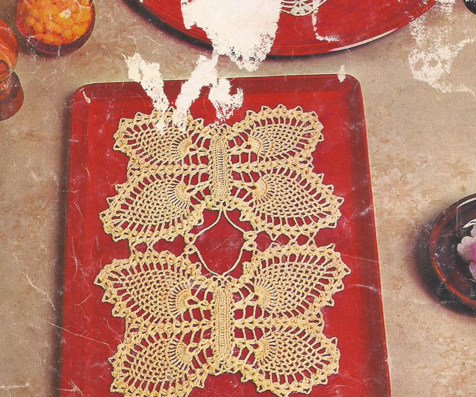 Cubrebandeja a Crochet