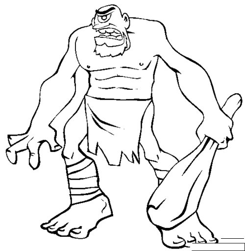 Free Coloring Pages Free Cyclops Coloring Pages For Kids Cyclops Coloring Pages