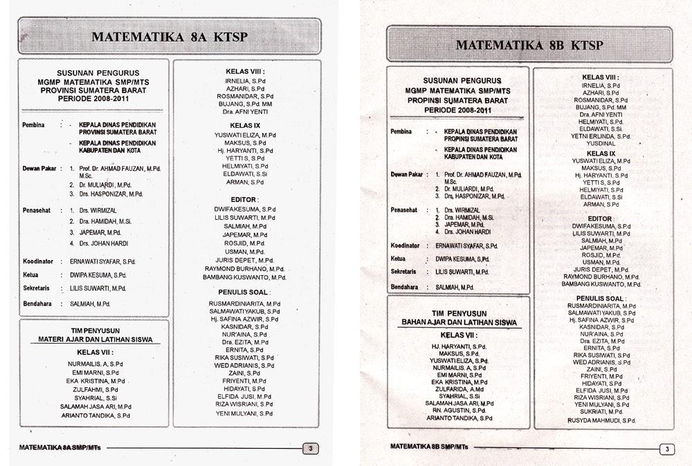 Contoh Lks Smp Kelas 8 Matematika Cover