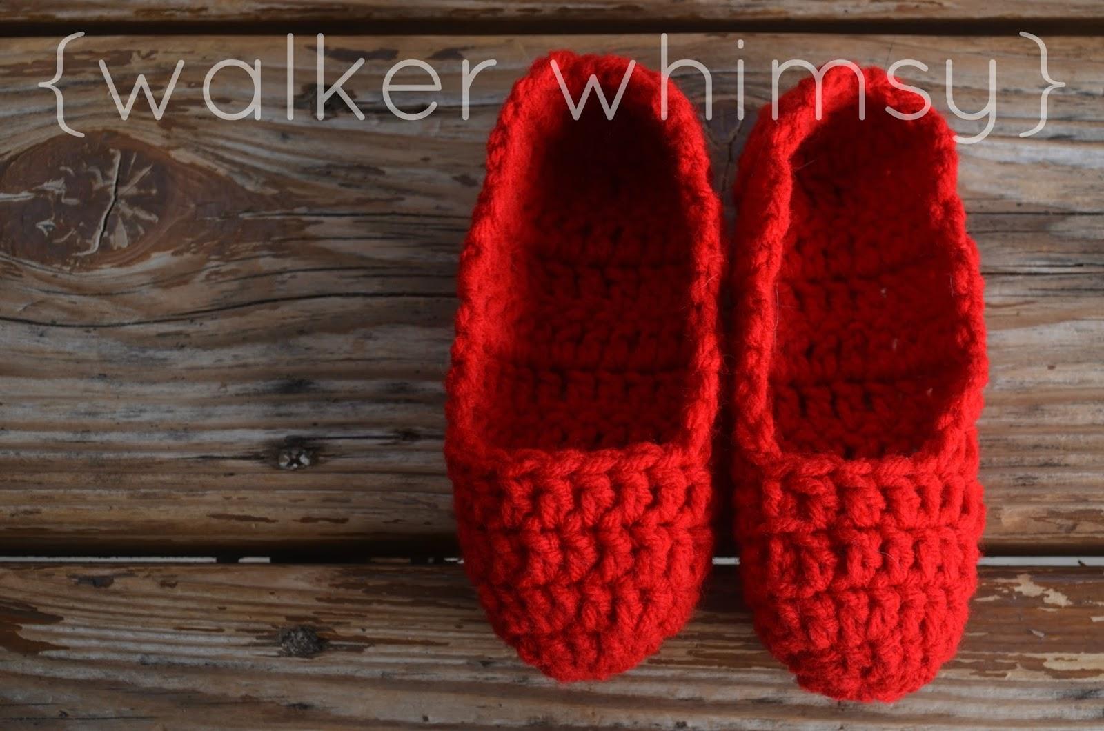 walker whimsy}: Crazy Easy Kid Slippers {POTM}
