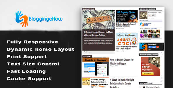responsive bloggingehow design