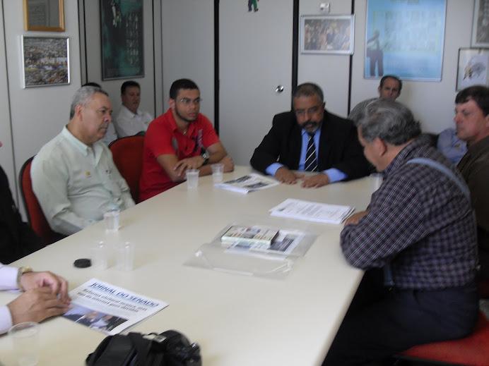 Entrega do projeto de NR para o Senador Paulo Paim.