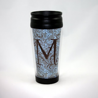 Monogrammed Coffee Travel Mug