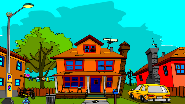Yal cartoon house escape