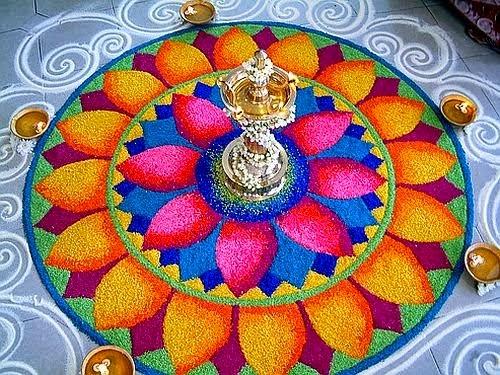 flower rangoli designs for diwali 2017   best floral