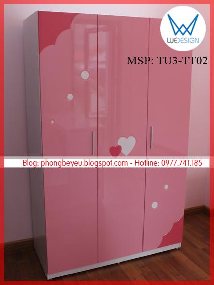 Tủ áo 3 cánh MSP: TU3-TT01