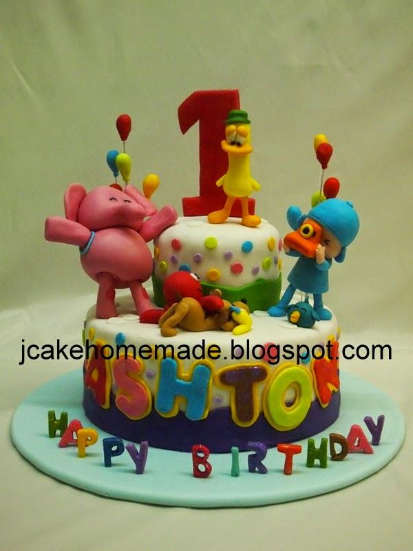 Jcakehomemade Pocoyo Birthday Cake P