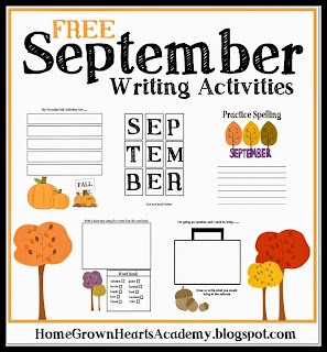 FREE September Writing Activities