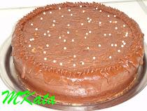 Főzött csokikrémes torta