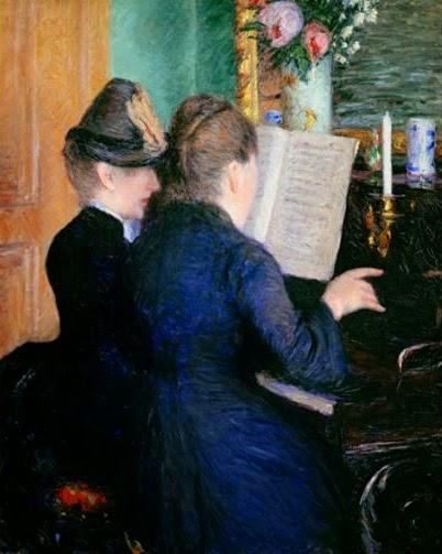 Caillebotte - La leçon de piano