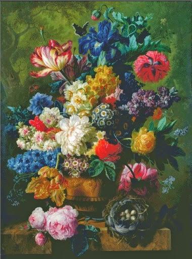 Klasik çok renkli goblen tablolar