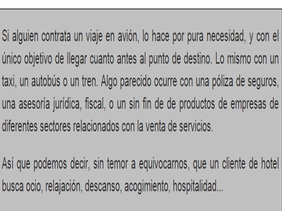 GERENCIA HOTELERA ~ Cristian R. Molina Quinteros