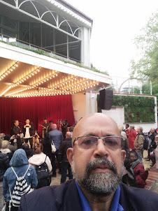 At Tivoli gardens in Copenhagen.