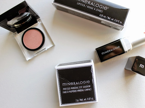 Mineralogie Pressed Mineral Eye Shadow Melon & Watermelon Splash Lipstick.