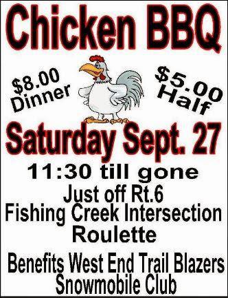 9-27 Last Chicken BBQ of Season