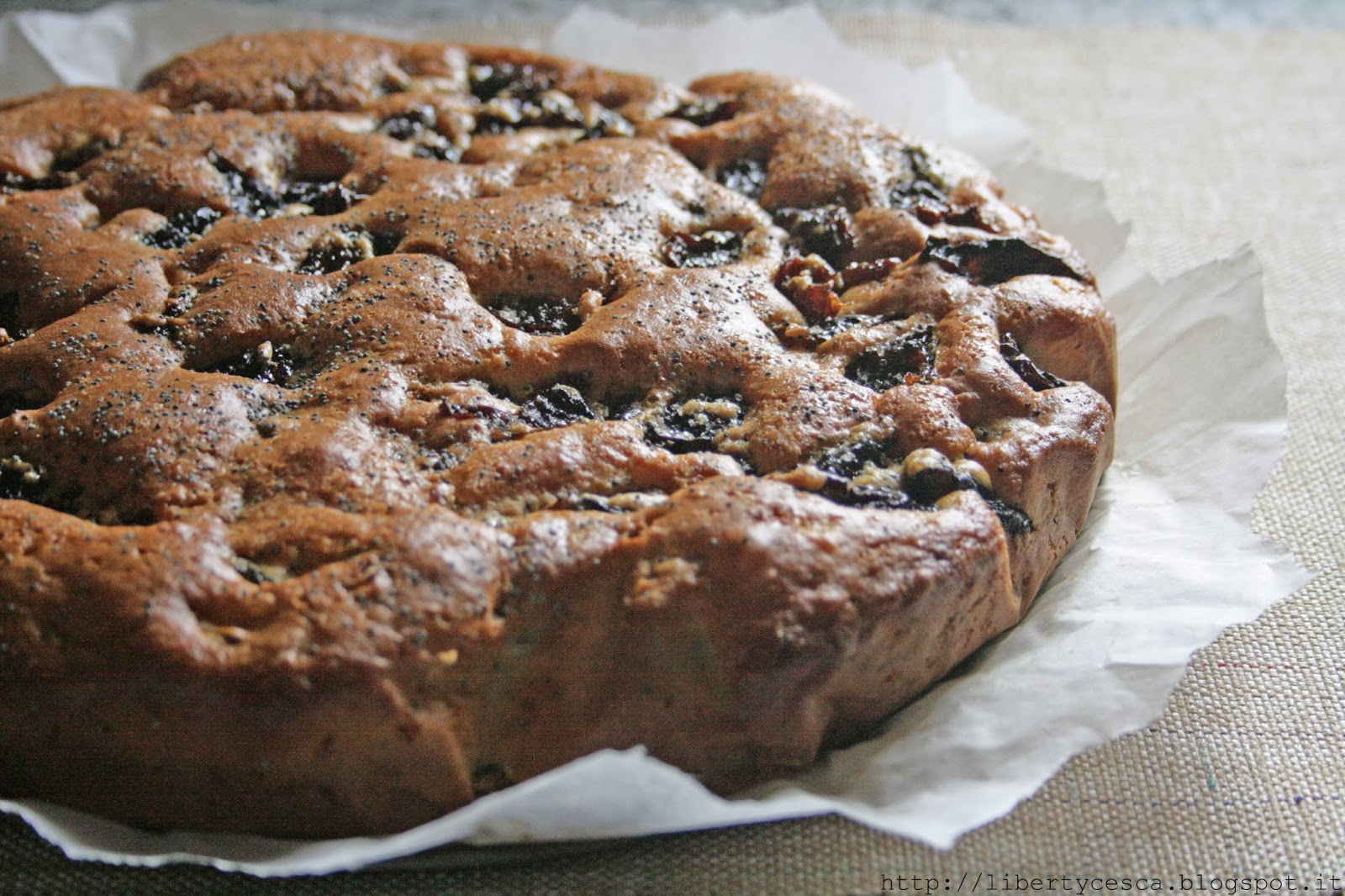 torta di prugne secche e semi di papavero / cake with dried plums and poppy seed