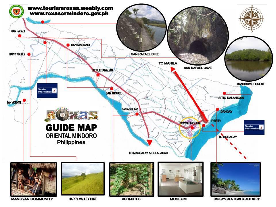 Roxas Oriental Mindoro ROXAS TOURISM COMMUNITY MAP - Roxas map