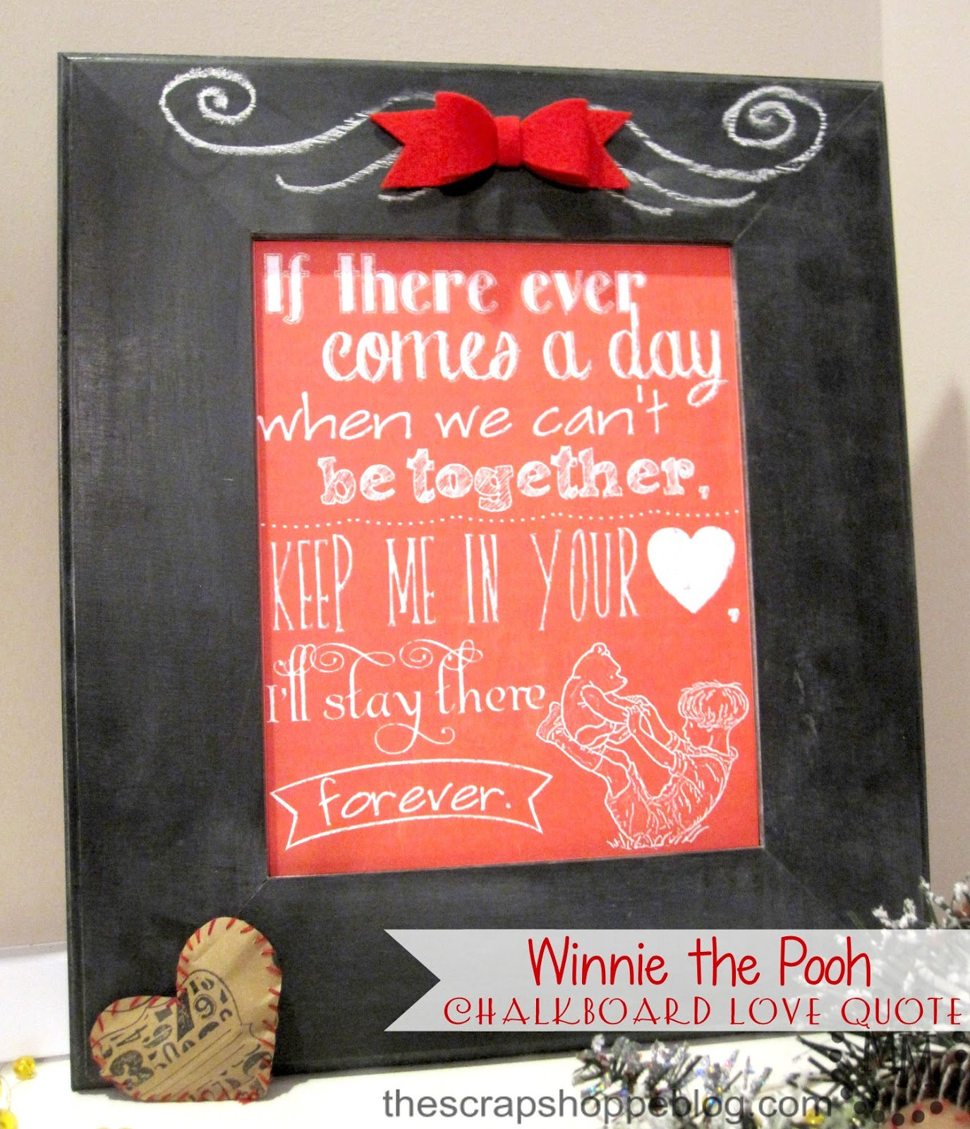 Pooh Love Quotes Winnie The Pooh Chalkboard Love Quote  The Scrap Shoppe
