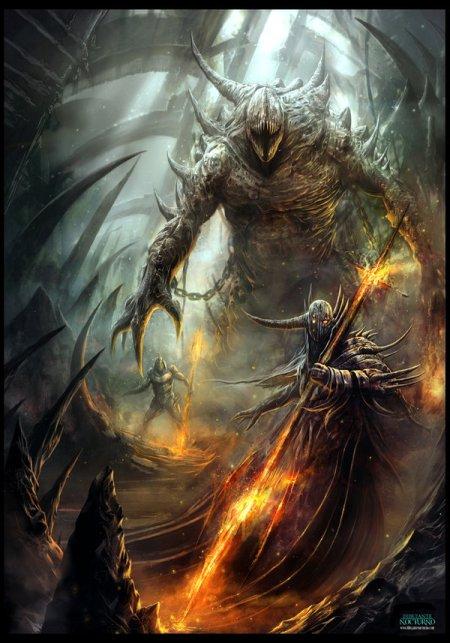 Francisco Garcés arte conceitual ilustração fantasia medieval fogo sangue inferno